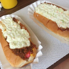 Photo taken at Brandi's World Famous Hot Dogs by Kim F. on 7/1/2013
