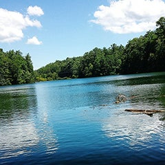 Photo taken at Lake Julian by Michael S. on 7/28/2014