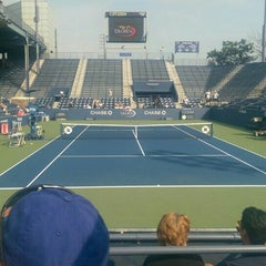 Photo taken at Grandstand - USTA Billie Jean King National Tennis Center by Jon D. on 9/2/2015