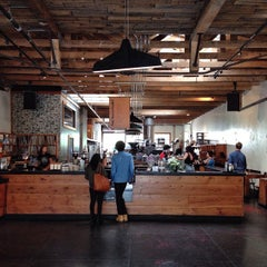 Photo taken at Four Barrel Coffee by Tho K. on 10/24/2014