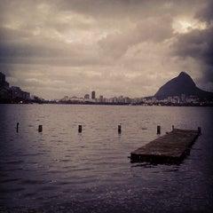 Photo taken at Lagoa Rodrigo de Freitas by Dennys Eduardo R. on 7/27/2013