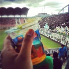 Photo taken at Stadion Maguwoharjo by mas gde ½. on 4/6/2013