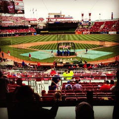 Photo taken at Great American Ball Park by Aaron L. on 5/25/2013