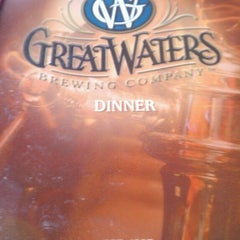 Photo taken at Great Waters Brewing Company by Joseph B. on 7/9/2013