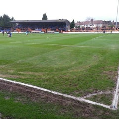 Photo taken at Underhill Stadium by Emiliano C. on 1/5/2013
