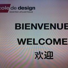 Photo taken at L'École du Design Nantes Atlantique by Florent*** M. on 9/28/2012