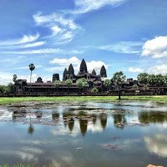 Photo taken at Angkor Wat Temple (អង្គរវត្ត) by Lisa L. on 7/13/2013