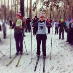 "Photo taken at Стадион ""Локомотив"" by Tanya S. on 2/15/2014"