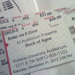 Photo taken at IU Auditorium by Brittany A. on 12/1/2012