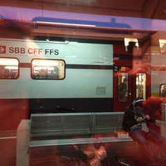 Photo taken at Gare de Renens by A.L. on 12/21/2012