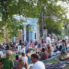 Photo taken at Beverly S. Sheffield Zilker Hillside Theater by Anant N. on 7/27/2012