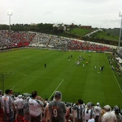 Photo taken at Estádio Joaquim Henrique Nogueira (Arena do Jacaré) - Democrata Futebol Clube by Rodrigo B. on 11/27/2011