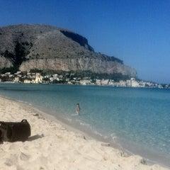 Photo taken at Spiaggia di Mondello by Federico C. on 11/4/2011