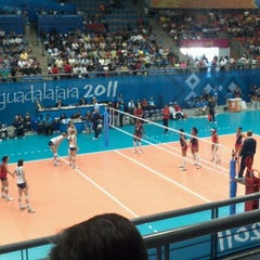 Photo taken at Complejo Panamericano de Voleibol by Moisés Abraham A. on 10/20/2011