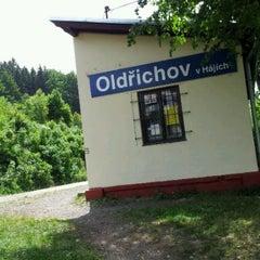 Photo taken at Železniční zastávka Oldřichov v Hájích by Dusan K. on 5/29/2012