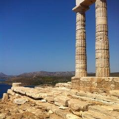 Photo taken at Ακρωτήρι Σουνίου (Cape Sounion) by Violette V. on 9/5/2012