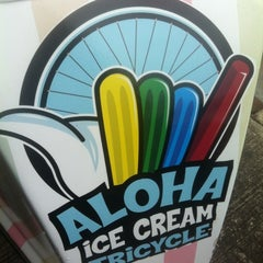 Photo taken at Aloha Pops Ice Cream Tricycle by Michael C. on 4/8/2012