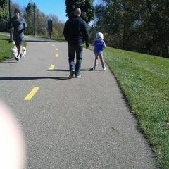Photo taken at Portage Creek Bicentennial Park by Kristi D. on 10/12/2014