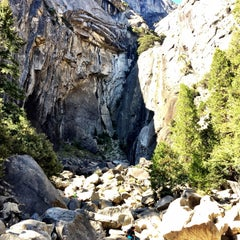 Photo taken at Lower Yosemite Falls by Liz W. on 10/2/2015