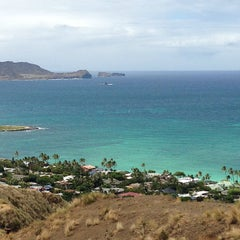 Photo taken at Lanikai Pillboxes Hike by Catherine C. on 6/30/2013