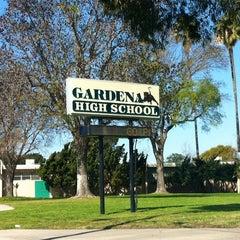 Photo taken at Gardena High School by Marty B. on 2/27/2013