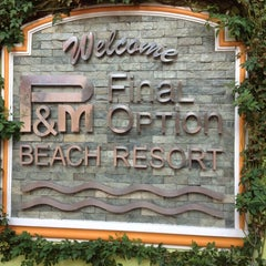 Photo taken at P&M Final Option Beach Resort & German Bistro by iSA 💃🏻 on 3/23/2014