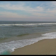 Photo taken at Sea Bright Locals Beach (Private) by iammeggie B. on 7/27/2013