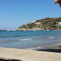 Photo taken at Παραλία Κινίου (Kini Beach) by Αγγελική Γ. on 7/16/2013