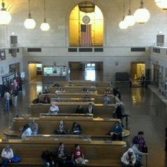 Photo taken at New Haven Union Station by Matt C. on 10/8/2012