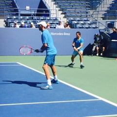 Photo taken at Grandstand - USTA Billie Jean King National Tennis Center by Fm D. on 9/7/2015