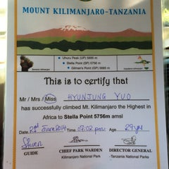 Photo taken at Mount Kilimanjaro by HyunJung Y. on 6/22/2014