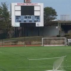Photo taken at West Campus - Boston University by Tiffany G. on 4/13/2014