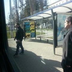 Photo taken at Skácelova (tram, bus) by Lukáš K. on 3/13/2014