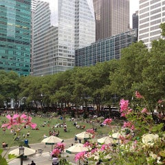 Photo taken at Bryant Park by Cathy L. on 8/1/2013