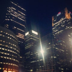 Photo taken at Canary Wharf by Tom B. on 9/18/2012