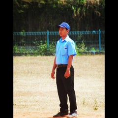 Photo taken at Lapangan Softball / Baseball Lodaya by Elshaaragoy F. on 8/9/2015