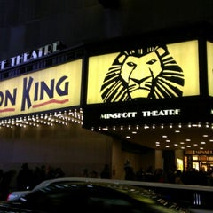 Photo taken at Minskoff Theatre by Phillip A. on 12/21/2012