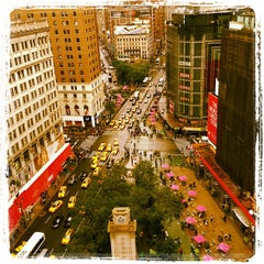 Photo taken at Herald Square by marco G. on 10/9/2012