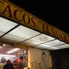 Photo taken at Tacos El Sabores by Jorge Arturo T. on 7/10/2014