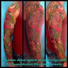 Photo taken at Kustom Kulture Tattoo Studio by Wendy B. on 1/20/2015