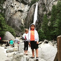 Photo taken at Lower Yosemite Falls by Nate H. on 6/6/2015