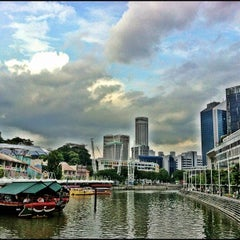 Photo taken at Clarke Quay by ivan w. on 10/17/2012