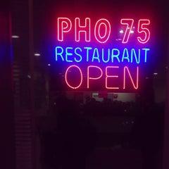 Photo taken at Pho 75 by Pranav V. on 12/9/2012