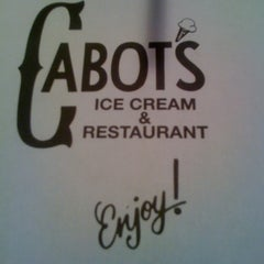 Photo taken at Cabot's Ice Cream & Restaurant by Doug C. on 3/22/2012