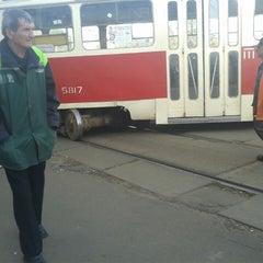 Photo taken at Трамвайна станція «Семена Скляренка» by Леночка К. on 9/25/2014