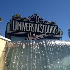 Photo taken at Universal Studios Hollywood Globe and Fountain by Elrick E. on 4/17/2013