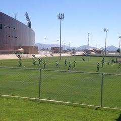 Photo taken at Territorio Santos Modelo Estadio by Gustavo D. on 4/27/2016