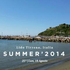 Photo taken at Lido Tirreno by Francesco P. on 8/18/2014