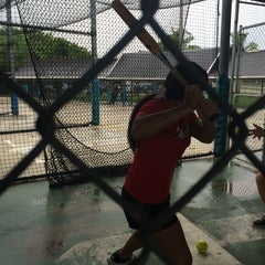 Photo taken at Sluggers Batting Cages by Mayte D. on 7/10/2014