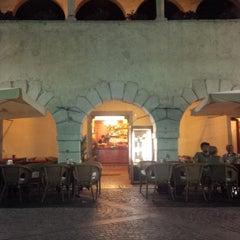 Photo taken at Bar Gelateria Pizzeria La Losa by Han S. on 6/8/2014